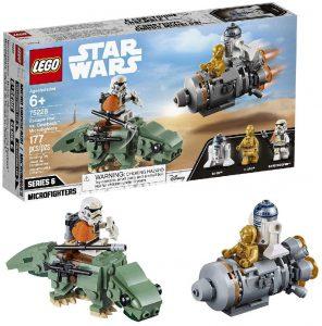 Sets de LEGO de droides de Star Wars - Juguete de construcción de LEGO de Huida de C-3PO y R2-D2 75228