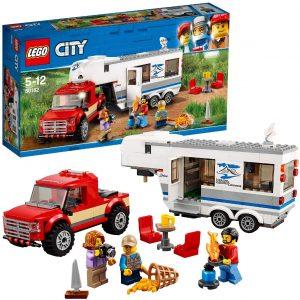 Sets de LEGO de furgonetas y caravanas - Juguete de construcción de LEGO City de Camioneta y Caravana 60182