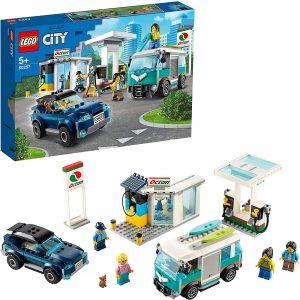 Sets de LEGO de furgonetas y caravanas - Juguete de construcción de LEGO City de Gasolinera 60257