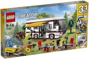 Sets de LEGO de furgonetas y caravanas - Juguete de construcción de LEGO Creator de Caravana de Vacaciones 31052