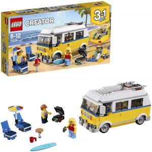 Sets de LEGO de furgonetas y caravanas - Juguete de construcción de LEGO Creator de Furgoneta de Playa 31079