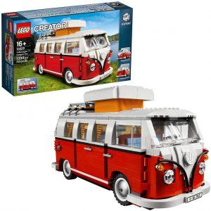 Sets de LEGO de furgonetas y caravanas - Juguete de construcción de LEGO Creator de Volkswagen T1 Camper Van 10220 de LEGO