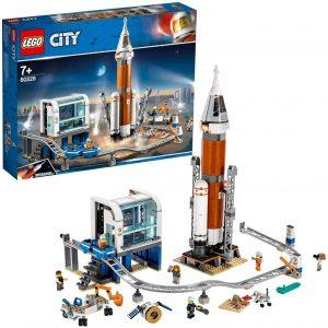 Sets de LEGO de la NASA - Juguete de construcción de LEGO de Cohete Espacial de Larga Distancia y Centro de Control de LEGO City NASA 60228