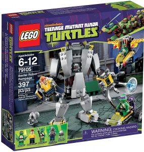 Sets de LEGO de las tortugas Ninja - Juguete de construcción de LEGO de Baxter Robot Rampage 79105