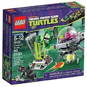 Sets de LEGO de las tortugas Ninja - Juguete de construcción de LEGO de Huida del Laboratorio del Kraang 79100