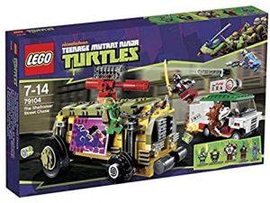 Sets de LEGO de las tortugas Ninja - Juguete de construcción de LEGO de Persecución en el furgón blindado 79104