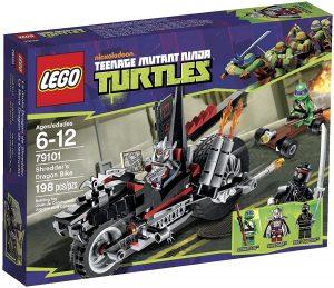 Sets de LEGO de las tortugas Ninja - Juguete de construcción de LEGO de Shredder's Dragon Bike 79101