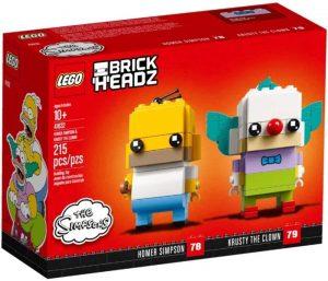 Sets de LEGO de los Simpsons - Juguete de construcción de LEGO de Homer Simpson y Krusty el Payaso de BrickHeadz 41632