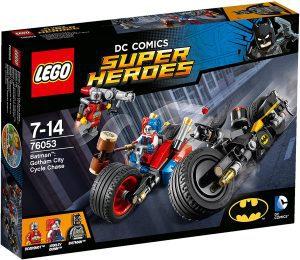 Sets de LEGO de motos y motocicletas - Juguete de construcción de LEGO de Duelo de motos de batman y Harley Quinn 76053