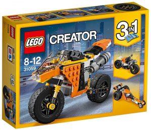 Sets de LEGO de motos y motocicletas - Juguete de construcción de LEGO de Gran Moto Callejera 3 en 1 31059