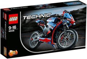 Sets de LEGO de motos y motocicletas - Juguete de construcción de LEGO de moto callejera 42036
