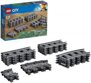 Sets de LEGO de trenes - Juguete de construcción de LEGO City de Vías de Tren 60205
