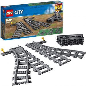 Sets de LEGO de trenes - Juguete de construcción de LEGO City de Vías de Tren 60238