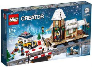 Sets de LEGO de trenes - Juguete de construcción de LEGO de Estación de Invierno de Navidad 10259