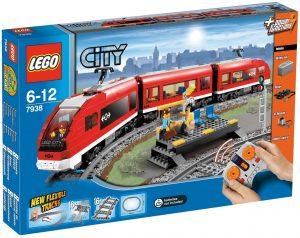 Sets de LEGO de trenes - Juguete de construcción de LEGO de Tren de pasajeros 7938