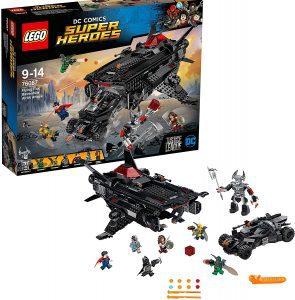 Sets de LEGO del Batmóvil - Batmobile - Juguete de construcción de LEGO de Batman de DC del Batmobile 76087 Flying Fox Ataque Aéreo del Batmobile en la Liga de la Justicia