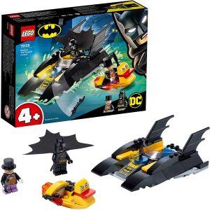 Sets de LEGO del Batmóvil - Batmobile - Juguete de construcción de LEGO de Batman de DC del Batmobile 76158 Caza del Pingüino en la Batlancha