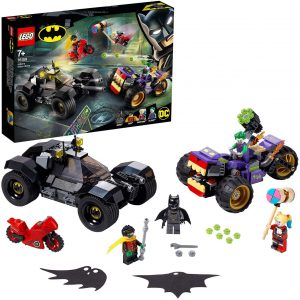 Sets de LEGO del Batmóvil - Batmobile - Juguete de construcción de LEGO de Batman de DC del Batmobile 76159 Persecución de la Trimoto del Joker con el Batmóvil