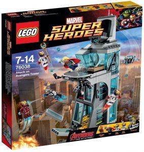 Torre de los Vengadores de LEGO Marvel Super Heroes 76038 - Juguete de construcción de LEGO de Marvel del Ataque de la Torre de los Vengadores