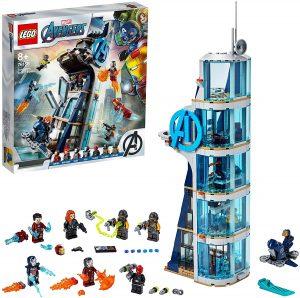 Torre de los Vengadores de LEGO Marvel Super Heroes 76166 - Juguete de construcción de LEGO de Marvel de Batalla en la Torre de los Vengadores