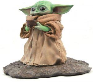 Figura de Baby Yoda de Star Wars de Diamond - Figuras de acción y muñecos de Grogu de Star Wars The Mandalorian
