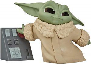 Figura de Grogu - Baby Yoda con el botón Hasbro - Figuras de acción y muñecos de baby yoda de The Mandalorian - Grogu