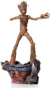Figura de Groot de Guardianes de la Galaxia de Iron Studios - Figuras de acción y muñecos de Groot de Marvel