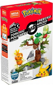 Figura de Torchic vs Treecko de Mega Construx - Figuras coleccionables de Treecko de Pokemon