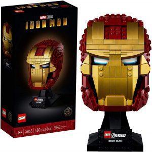 Figura de casco de Iron man de LEGO - Figuras de acción y muñecos de Iron man de Marvel