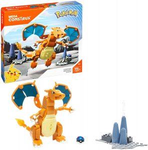 Figura y muñeco de Charizard de Mega Construx - Figuras coleccionables de Charizard de Pokemon - Muñeco de Pokemon