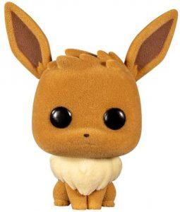 Figura y muñeco de Eevee flocked de FUNKO POP - Figuras coleccionables de Eevee de Pokemon - Muñeco de Pokemon