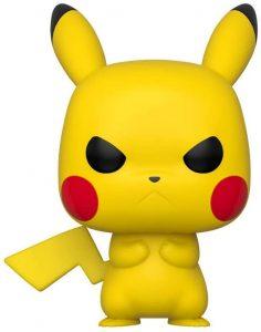 Figura y muñeco de Pikachu enfadado de FUNKO POP - Figuras coleccionables de Pikachu de Pokemon - Muñeco de Pokemon