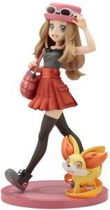 Figura y muñeco de Serena con Fennekin de Kotobukiya - Figuras coleccionables de Fennekin de Pokemon - Muñeco de Pokemon