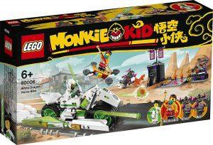 Sets de LEGO de Juego de bicicletas de dragón blanco de Monkie Kid 80006 - Juguete de construcción de LEGO de Monkie Kid