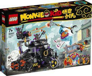 Sets de LEGO de Tanque Toro de Monkie Kid 80007 - Juguete de construcción de LEGO de Monkie Kid