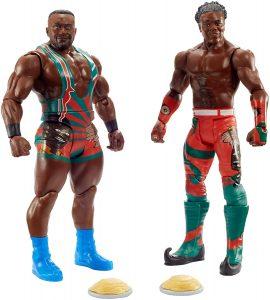 Figura de Big E y Xavier Woods de Elite 2 - Muñecos de The New Day - Figuras coleccionables de luchadores de WWE
