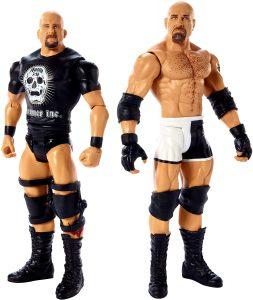 Figura de Goldberg y Stone Cold de Mattel 2 - Muñecos de Goldberg - Figuras coleccionables de luchadores de WWE