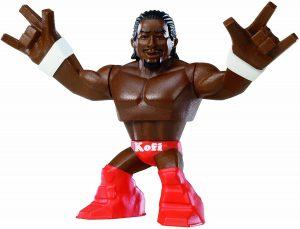 Figura de Kofi Kingston de RUMBLERS RAMPAGE - Muñecos de The New Day - Figuras coleccionables de luchadores de WWE