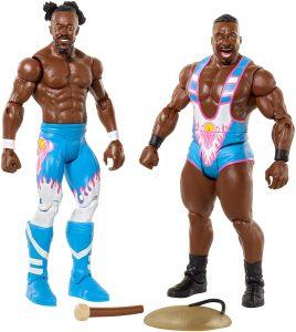 Figura de Kofi Kingston y Big E de FMD - Muñecos de The New Day - Figuras coleccionables de luchadores de WWE
