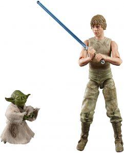 Figura de Luke Skywalker con Yoda de The Black Series - Figuras de acción y muñecos de Luke Skywalker de Star Wars