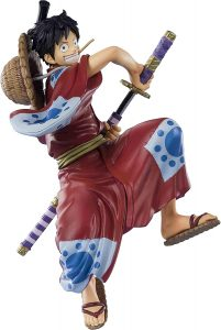 Figura de Monkey D. Luffy de One Piece de Bandai Tamashii Nations Kimono - Muñecos de Luffy - Figuras coleccionables del anime de One Piece