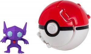 Figura de Sableye con Pokeball de Battle Pokemon - Muñecos de Sableye - Figuras coleccionables de Pokemon
