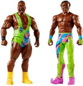 Figura de Xavier Woods y Big E de Mattel - Muñecos de The New Day - Figuras coleccionables de luchadores de WWE