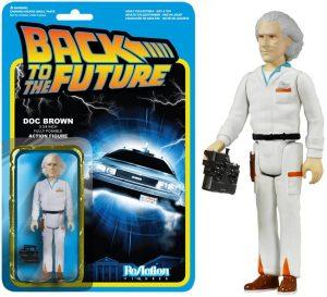 Figura de Doc Brown de Regreso al futuro de ReAction - Los mejores muñecos de Back to the future - FIguras de Regreso al Futuro