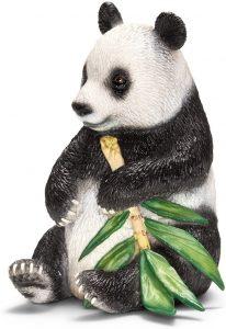 Figura de Oso Panda con bambú de Schleich - Los mejores muñecos de osos panda - Figuras de oso panda de animales