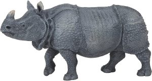 Figura de Rinoceronte Indio de Papo - Los mejores muñecos de rinocerontes - Figuras de rinoceronte de animales