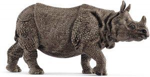 Figura de Rinoceronte Indio de Schleich - Los mejores muñecos de rinocerontes - Figuras de rinoceronte de animales