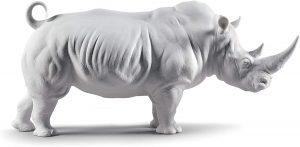 Figura de Rinoceronte de Lladró - Los mejores muñecos de rinocerontes - Figuras de rinoceronte de animales