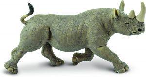 Figura de Rinoceronte negro de Safari - Los mejores muñecos de rinocerontes - Figuras de rinoceronte de animales
