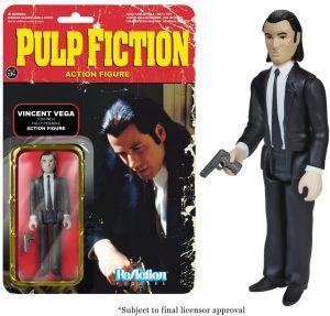 Figura de Vincent Vega de ReAction - Los mejores muñecos de Pulp Fiction - Figuras de Pulp Fiction de Tarantino